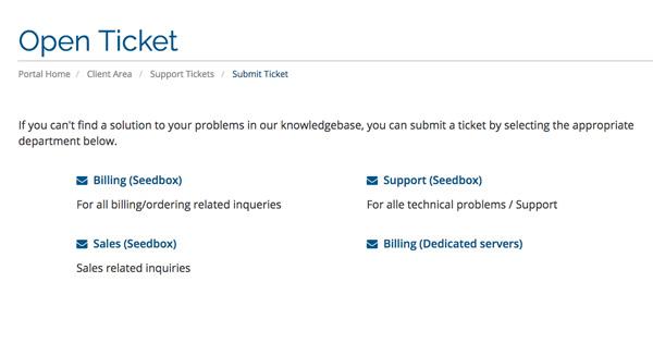 Client Support Seedbox.io