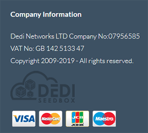 DediSeedBox payment