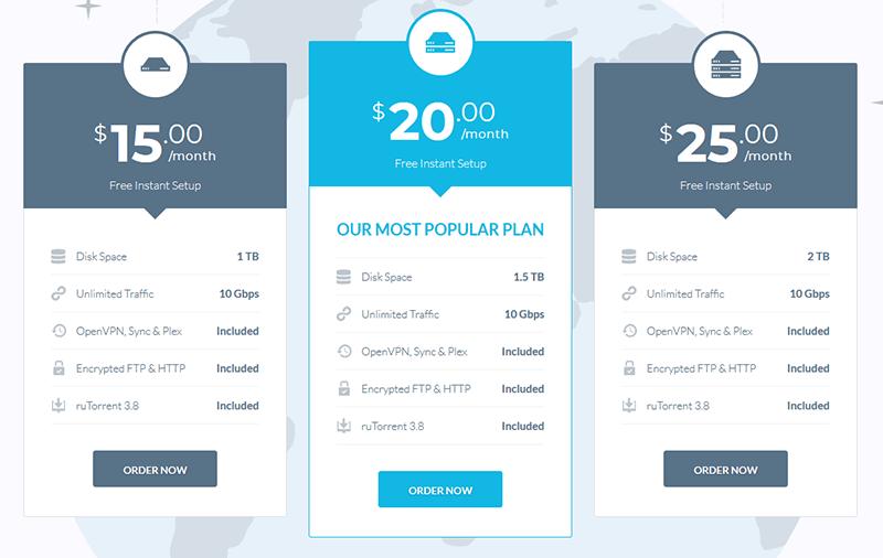 DediSeedBox prices