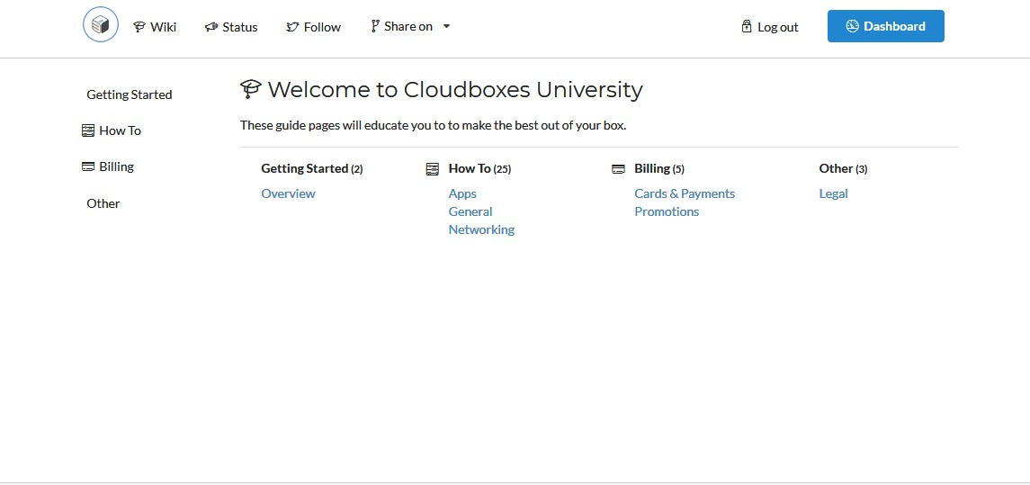Cloudboxes.io Wiki help pages