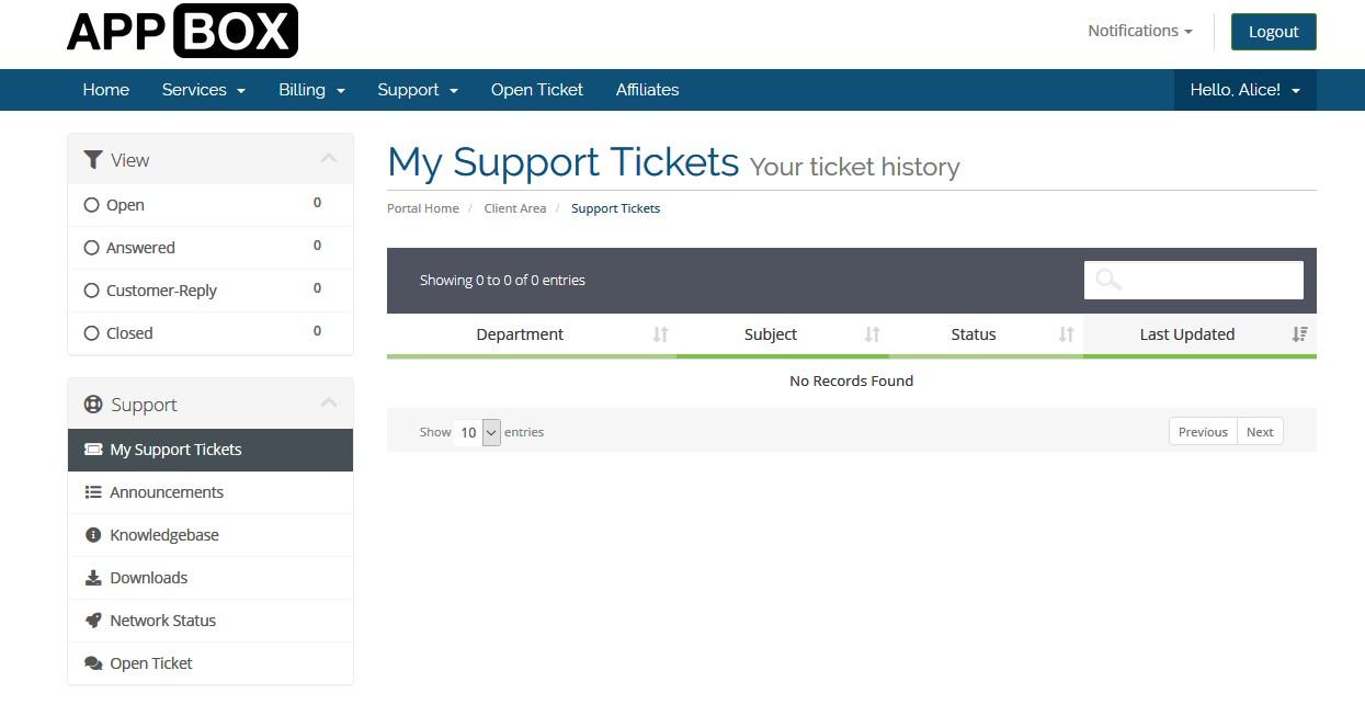 Seedboxco ticket support