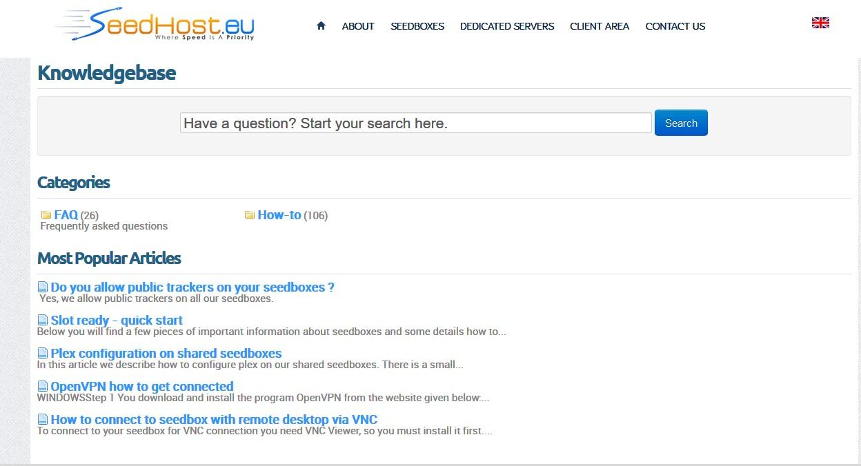 Seedhost.eu knowlegebase