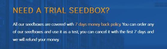 Seedhost.eu money-back guarantee