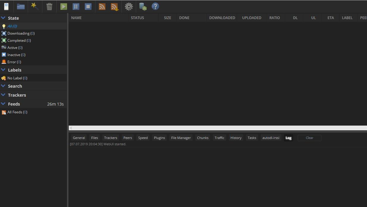ruTorrent torrent client